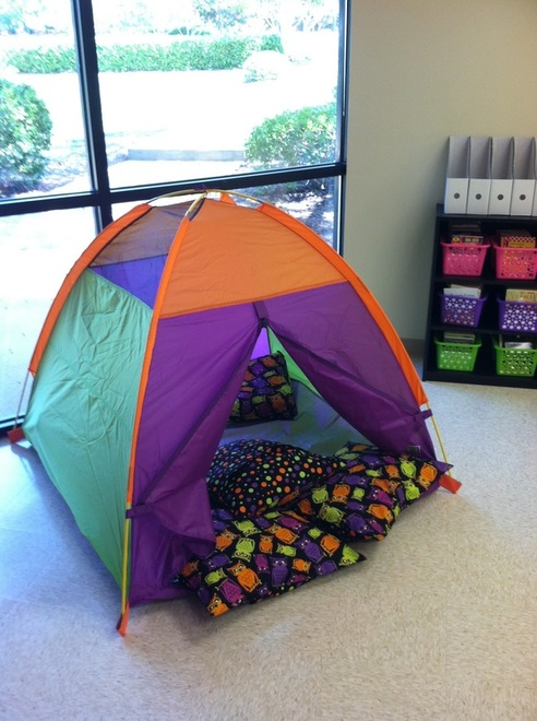 Classroom tent by Melanie Mccord //.beyondabcand123.com/2012/08/slowly-but-surely.html & 3: Classroom Tent - Along the Spectrum